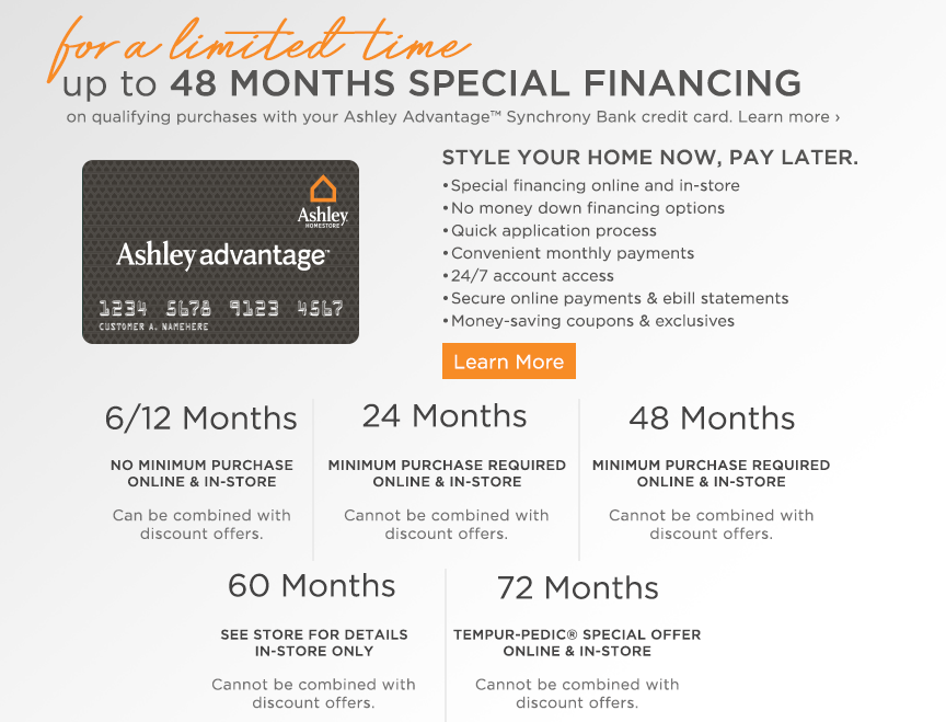. Ashley HomeStore   Customer Service
